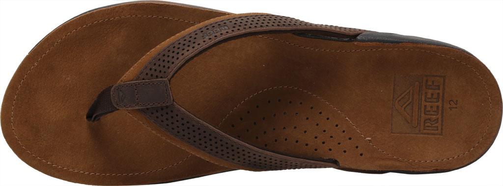 Men's Reef J-Bay Perf Waterproof Flip Flop, Java/Caramel Full Grain Leather, large, image 5