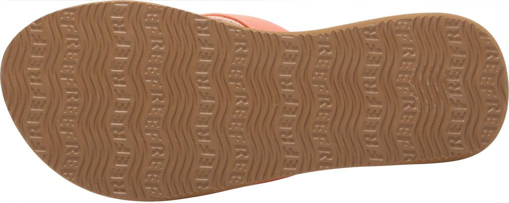 Women's Reef Cushion Sand Flip Flop, Cantaloupe Synthetic, large, image 6