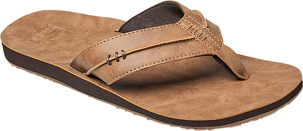 Men's Reef Marbea SL Vegan Flip Flop, Tan Vegan Leather, large, image 1