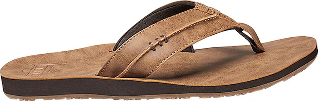 Men's Reef Marbea SL Vegan Flip Flop, Tan Vegan Leather, large, image 2