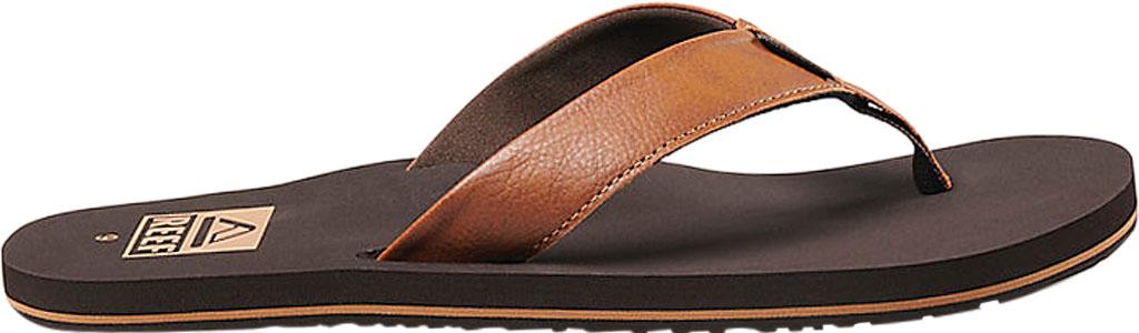 Men's Reef Twinpin Vegan Flip Flop, Brown Vegan Leather, large, image 2