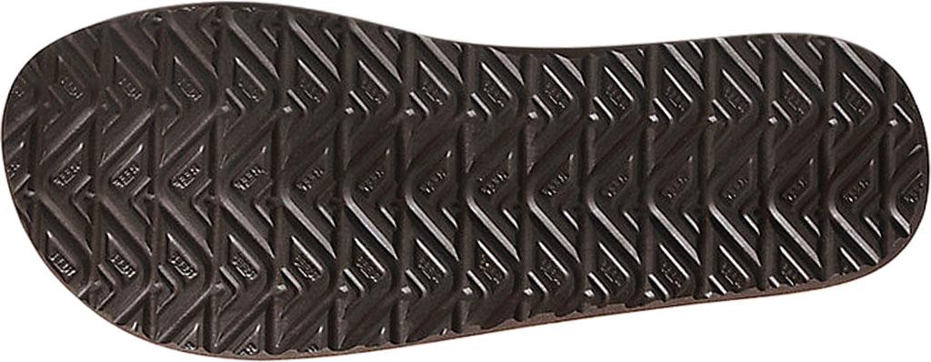 Men's Reef Twinpin Vegan Flip Flop, Brown Vegan Leather, large, image 3