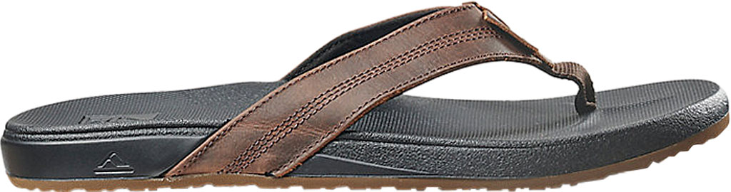 Men's Reef Cushion Phantom LE Flip Flop, Black/Brown Full Grain Leather, large, image 2
