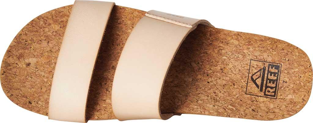 Women's Reef Cushion Vista Hi Slide, Seashell Vegan Leather, large, image 4