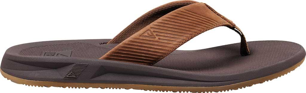 Men's Reef Phantom II Leather Flip Flop, Bronze Full Grain Leather, large, image 2