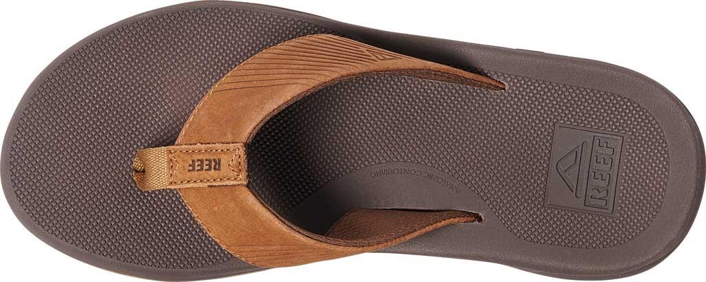 Men's Reef Phantom II Leather Flip Flop, Bronze Full Grain Leather, large, image 3