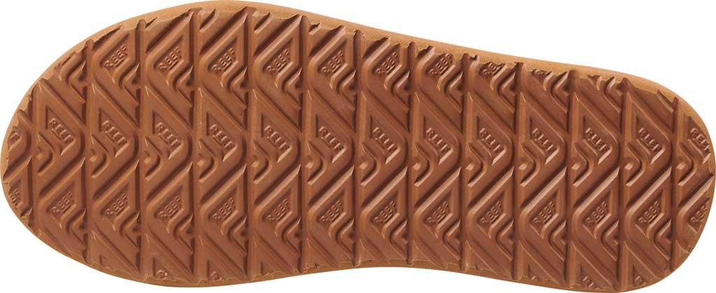 Men's Reef Leather Element TQT Flip Flop, Black/Brown Leather, large, image 4