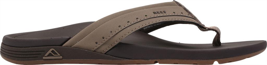 Men's Reef Ortho-Spring Mini Perf Flip Flop, Brown Recycled PET/Vegan Leather, large, image 2