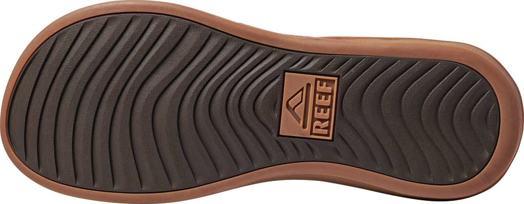 Men's Reef Cushion Lux Flip Flop, Brown Full Grain Leather, large, image 4