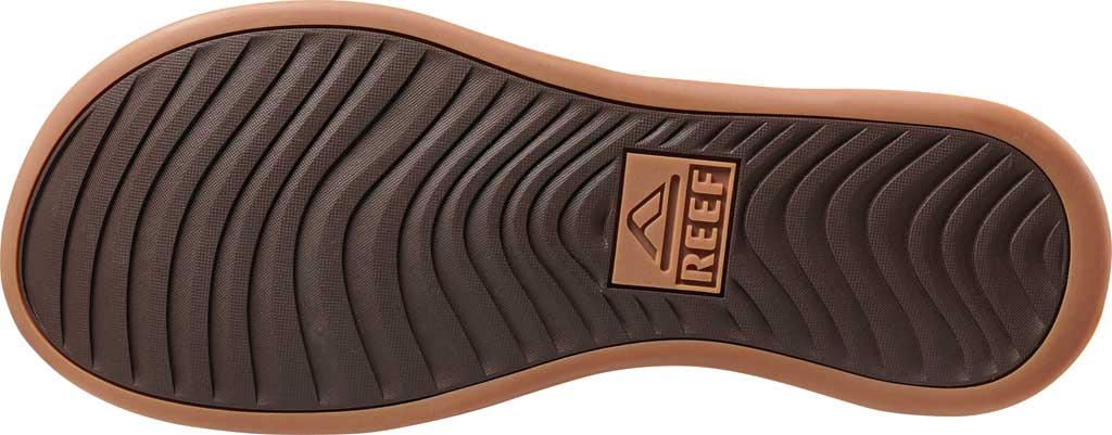 Men's Reef Cushion Lux Flip Flop, Toffee Full Grain Leather, large, image 3