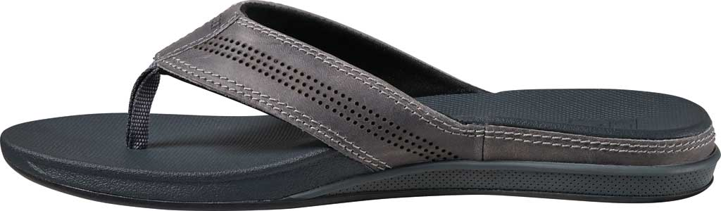 Men's Reef Cushion Lux Flip Flop, Grey Full Grain Leather, large, image 3