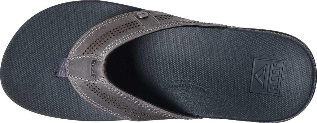 Men's Reef Cushion Lux Flip Flop, Grey Full Grain Leather, large, image 4