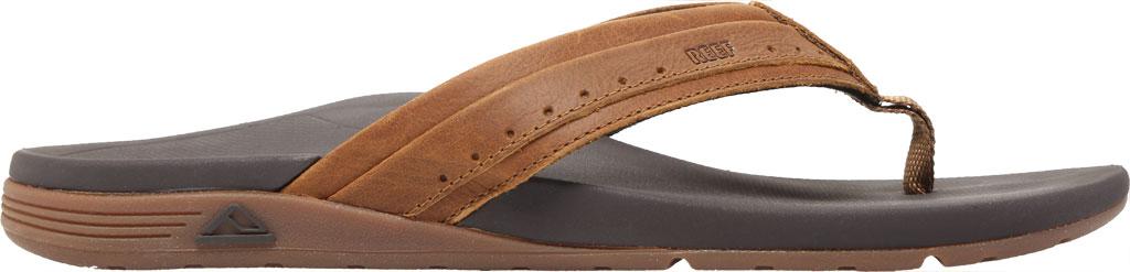Men's Reef Leather Ortho-Spring Flip Flop, Brown Leather, large, image 2