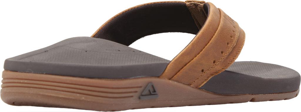 Men's Reef Leather Ortho-Spring Flip Flop, Brown Leather, large, image 4