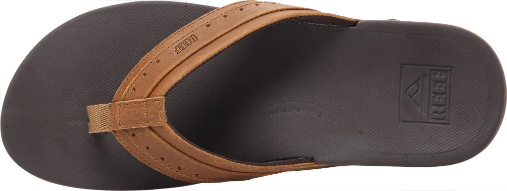 Men's Reef Leather Ortho-Spring Flip Flop, Brown Leather, large, image 5