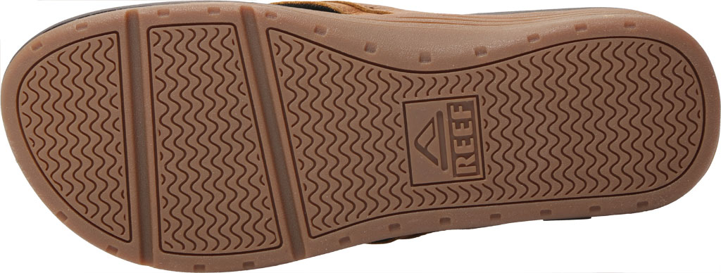 Men's Reef Leather Ortho-Spring Flip Flop, Brown Leather, large, image 6