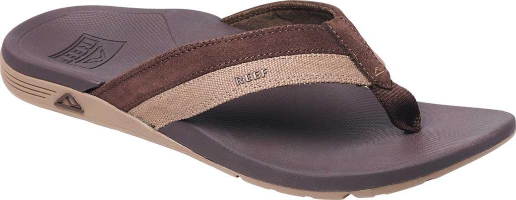 Men's Reef Ortho-Spring TX Flip Flop, Brown Recycled PET/Vegan Leather, large, image 1