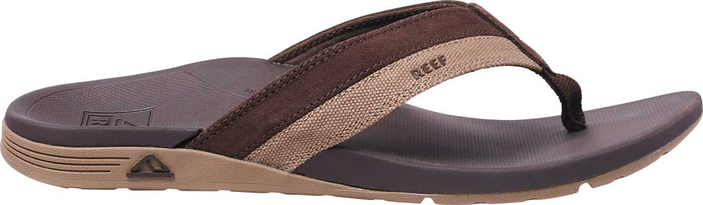 Men's Reef Ortho-Spring TX Flip Flop, Brown Recycled PET/Vegan Leather, large, image 2