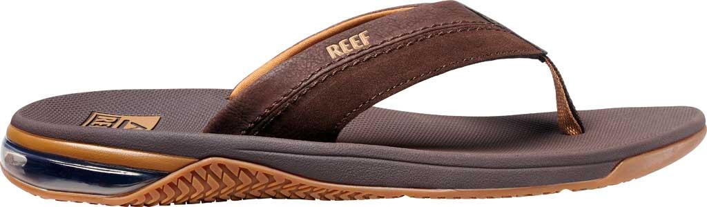 Men's Reef Anchor LE Flip Flop, Brown Vegan Leather, large, image 2