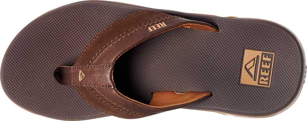 Men's Reef Anchor LE Flip Flop, Brown Vegan Leather, large, image 3