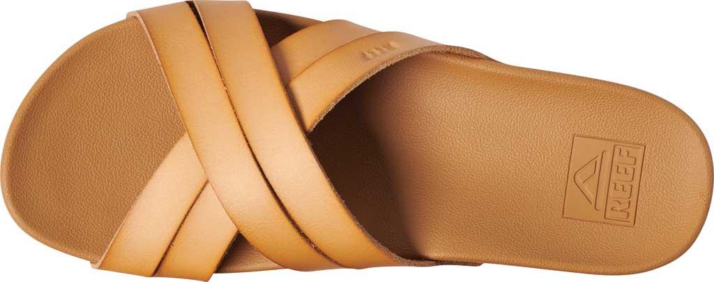 Women's Reef Cushion Spring Bloom Vegan Slide, Natural Vegan Leather, large, image 3