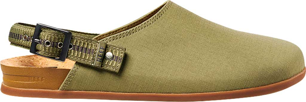 Men's Reef Cushion Sage RS Clog, Faded Olive Stretch Ripstop, large, image 2