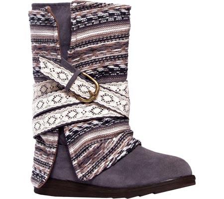 Women's MUK LUKS Nikki Belt Wrapped Boot, Grey, large, image 1