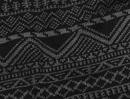 Men's MUK LUKS Pattern Scarf, Black, large, image 2