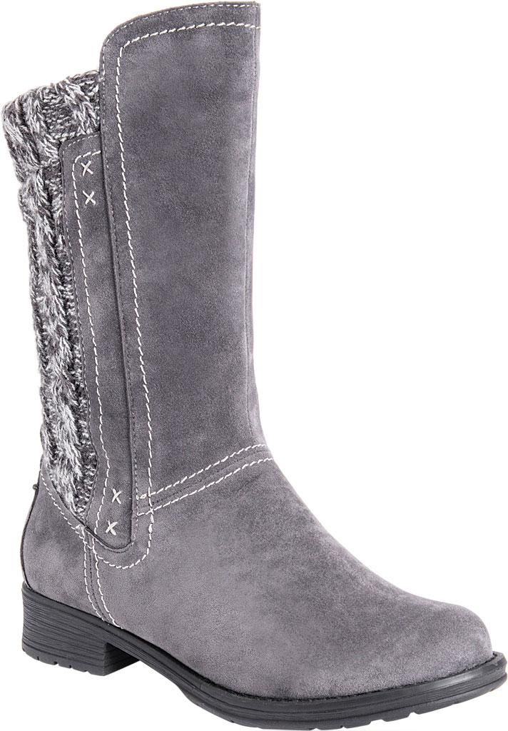 Women's MUK LUKS Casey Mid Calf Boot, Grey Polyester, large, image 1