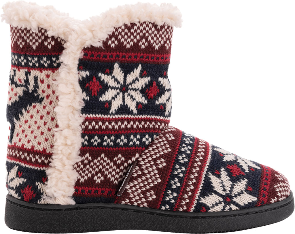 Women's MUK LUKS Cheyenne Bootie Slipper, Candy Apple Acrylic Knit, large, image 2