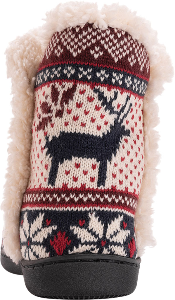 Women's MUK LUKS Cheyenne Bootie Slipper, Candy Apple Acrylic Knit, large, image 3