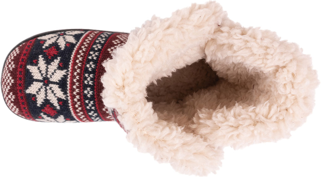 Women's MUK LUKS Cheyenne Bootie Slipper, Candy Apple Acrylic Knit, large, image 4