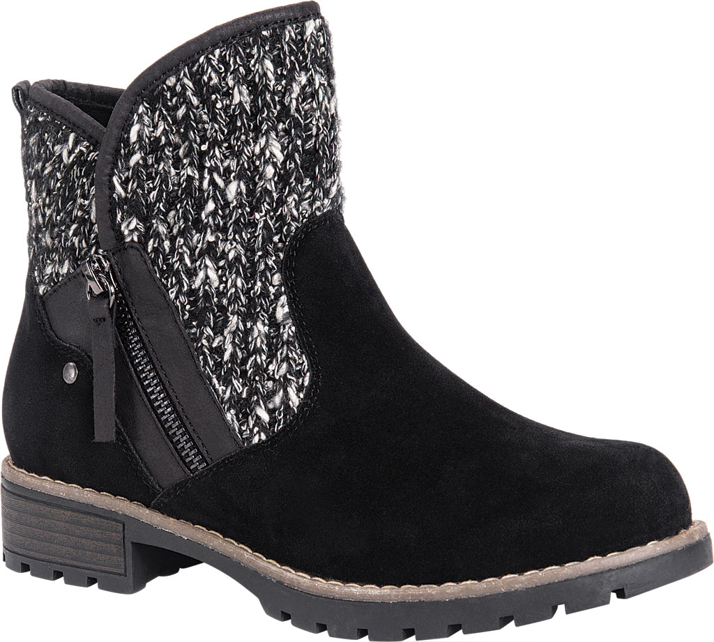 Women's MUK LUKS Gerri Ankle Boot, Black, large, image 1