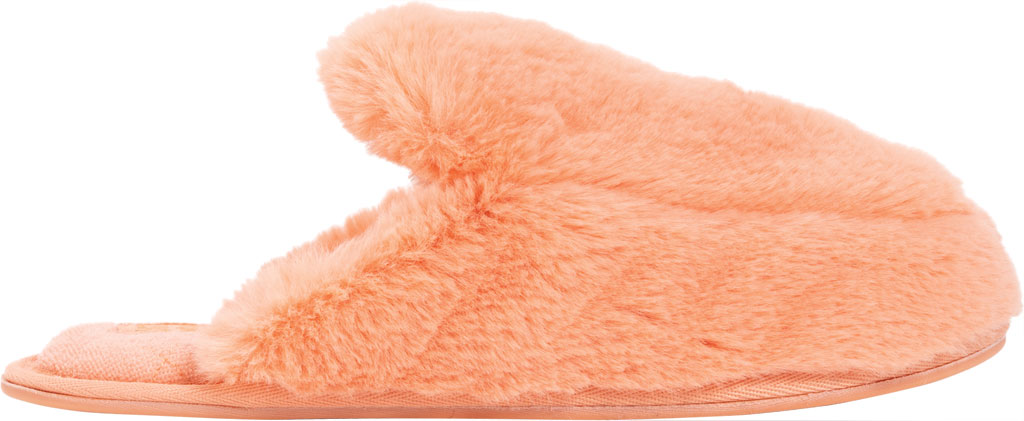 Women's MUK LUKS Capucine Scuff, Salmon Polyester/Faux Fur, large, image 2