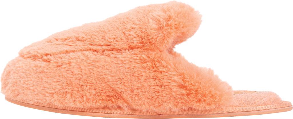 Women's MUK LUKS Capucine Scuff, Salmon Polyester/Faux Fur, large, image 3
