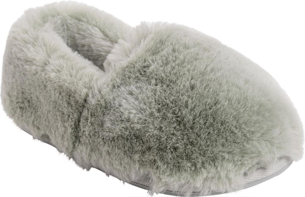 Women's MUK LUKS Ayla Slipper, Green Polyester/Faux Fur, large, image 1