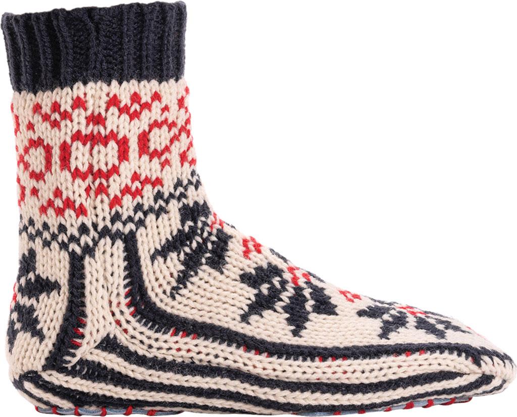 Women's MUK LUKS Knit Slipper Sock, Navy/Licorice Acrylic Knit, large, image 2