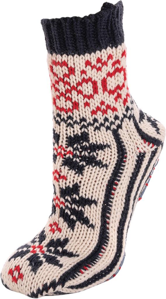 Women's MUK LUKS Knit Slipper Sock, Navy/Licorice Acrylic Knit, large, image 3