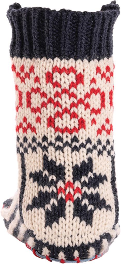 Women's MUK LUKS Knit Slipper Sock, Navy/Licorice Acrylic Knit, large, image 4
