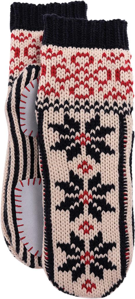 Women's MUK LUKS Knit Slipper Sock, Navy/Licorice Acrylic Knit, large, image 5