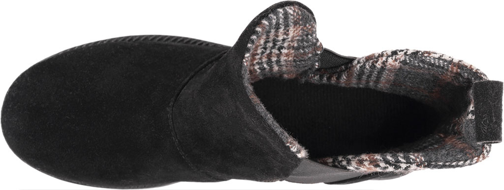 Women's MUK LUKS Mila Ankle Bootie, Black Polyester Faux Suede, large, image 4