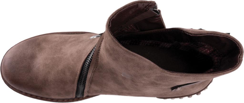 Women's MUK LUKS Ranya Ankle Bootie, Brown Polyurethane, large, image 4