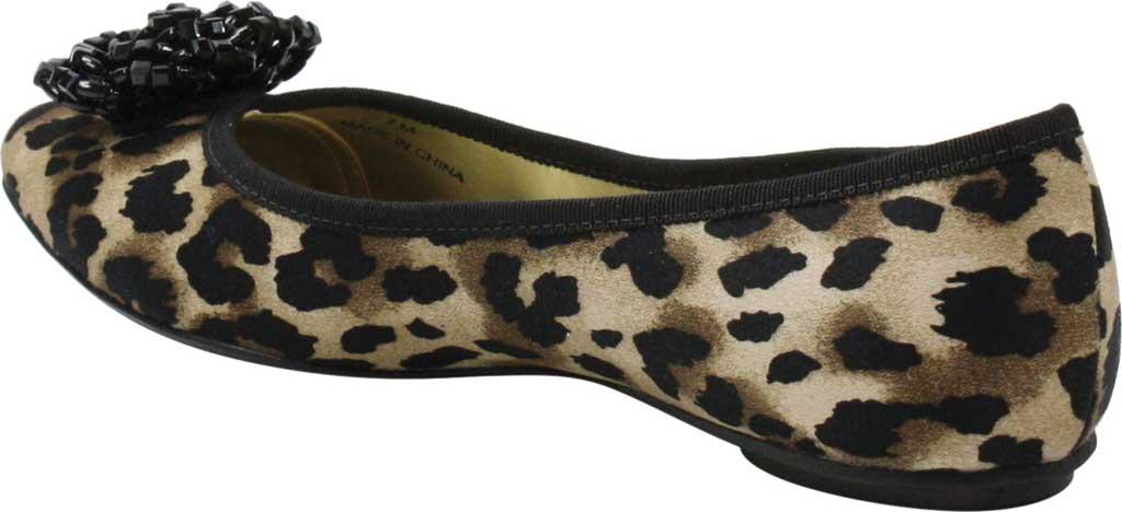 Women's J by J. RENEE Hermine Flat, Black/Brown Leopard Print Fabric, large, image 4