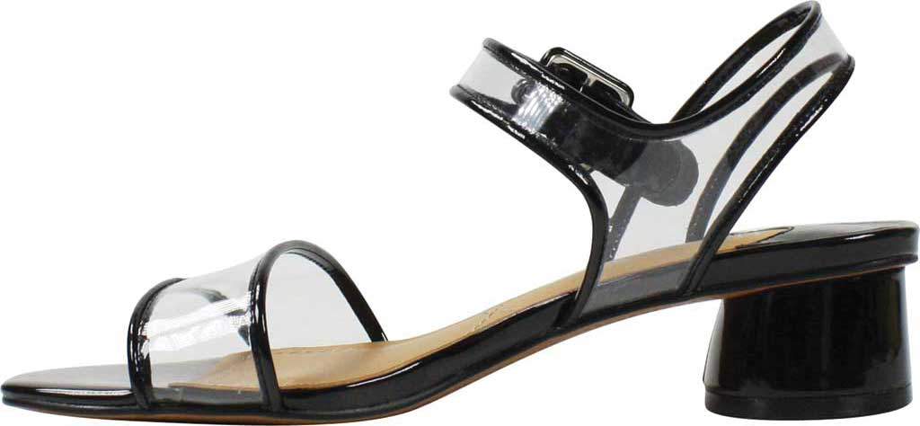 Women's J. Renee Florencio Heeled Vinyl Sandal, Black/Clear Synthetic Patent/Vinyl, large, image 3