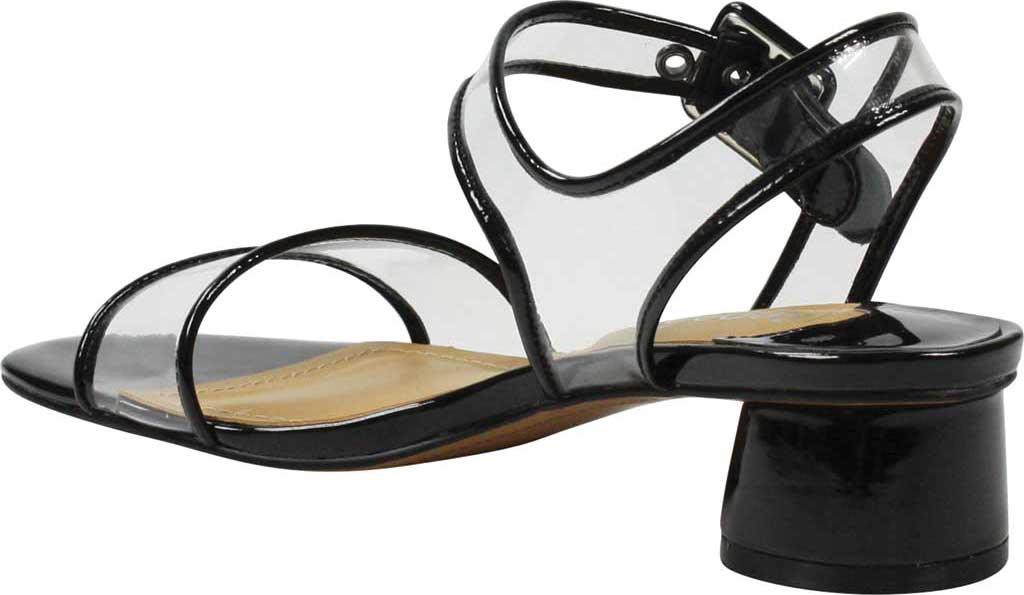 Women's J. Renee Florencio Heeled Vinyl Sandal, Black/Clear Synthetic Patent/Vinyl, large, image 4