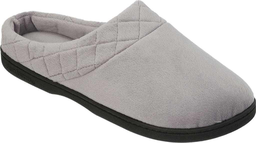 Women's Dearfoams Darcy Microfiber Velour Clog Slipper, Medium Grey, large, image 1