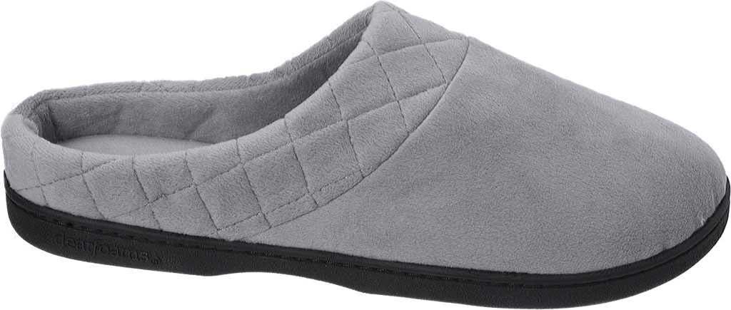 Women's Dearfoams Darcy Microfiber Velour Clog Slipper, Medium Grey, large, image 2