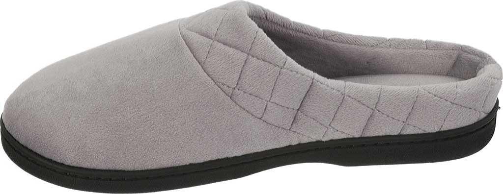 Women's Dearfoams Darcy Microfiber Velour Clog Slipper, Medium Grey, large, image 3