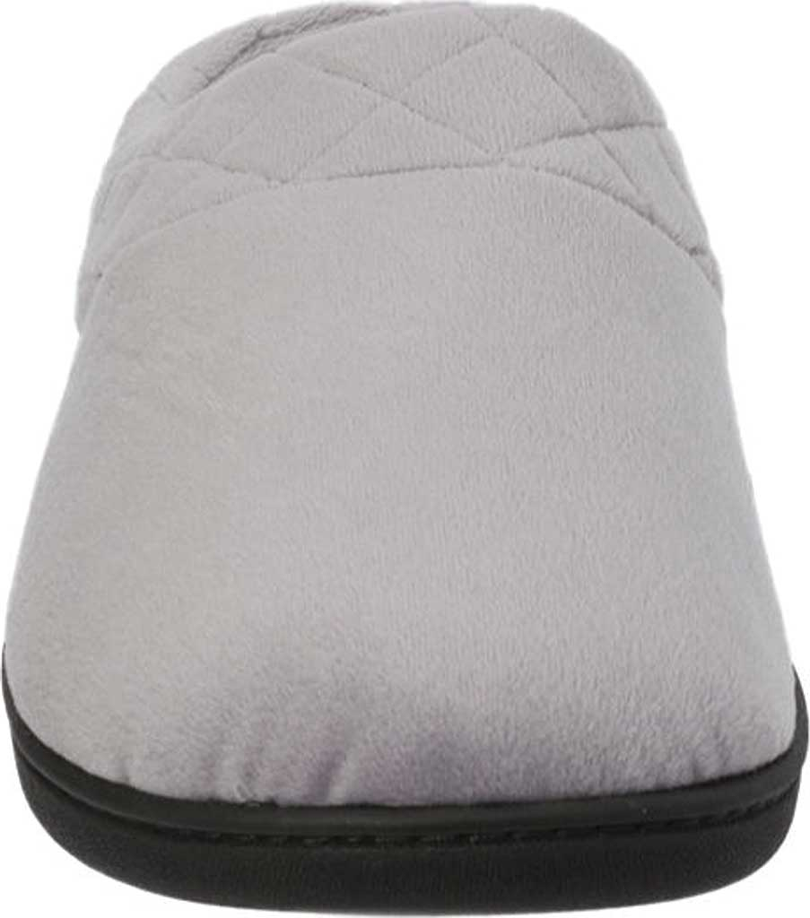 Women's Dearfoams Darcy Microfiber Velour Clog Slipper, Medium Grey, large, image 4