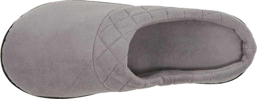 Women's Dearfoams Darcy Microfiber Velour Clog Slipper, Medium Grey, large, image 6
